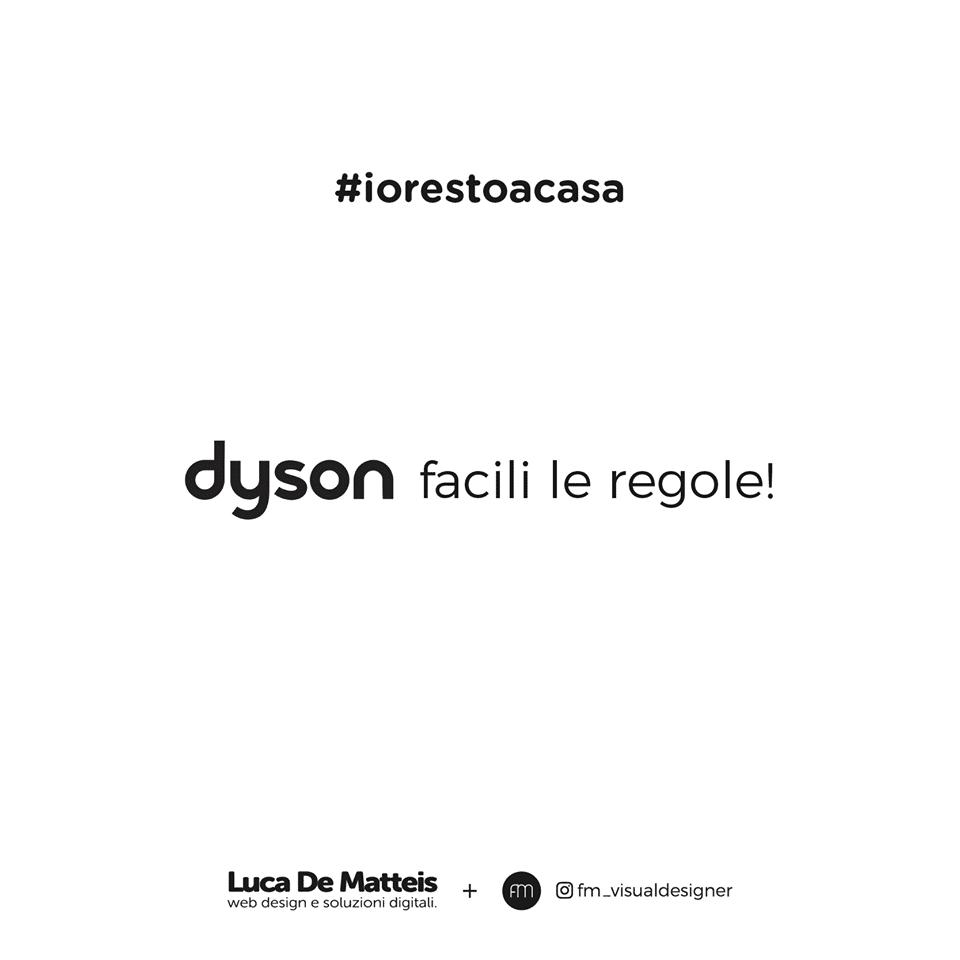 #iorestoacasa Dyson Luca De Matteis fm_visuladesigner
