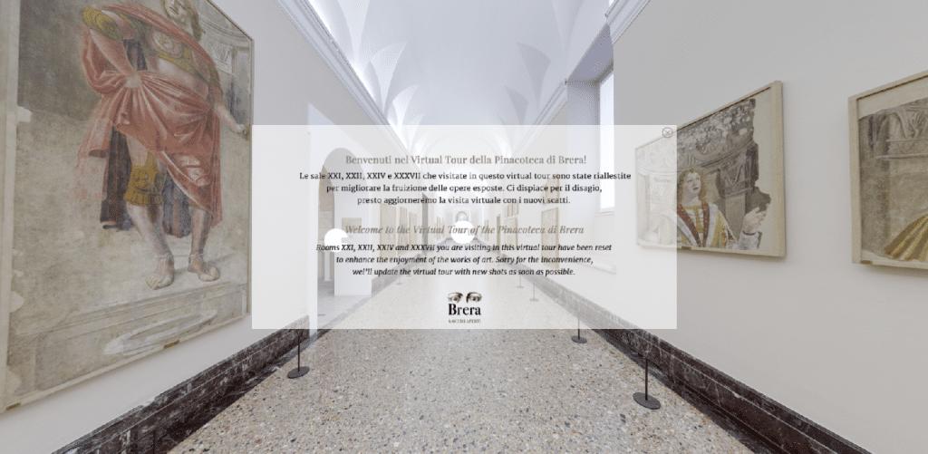 Tour virtuale Pinacoteca di Brera