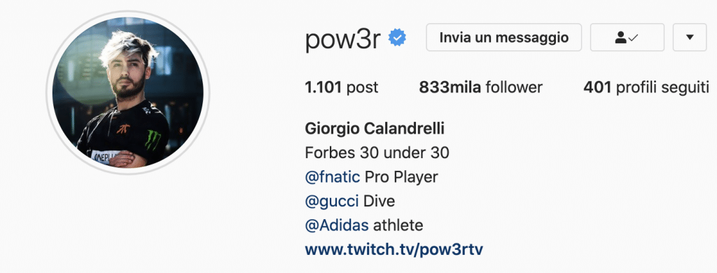 Instagram streamer Twitch POW3R