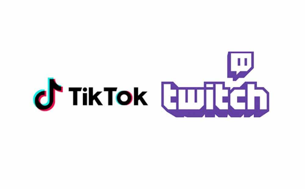 TikTok logo Twitch logo