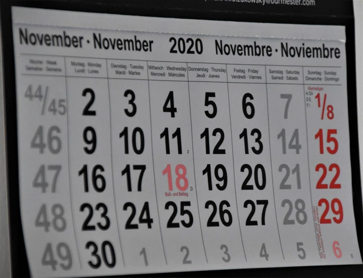 le date di novembre