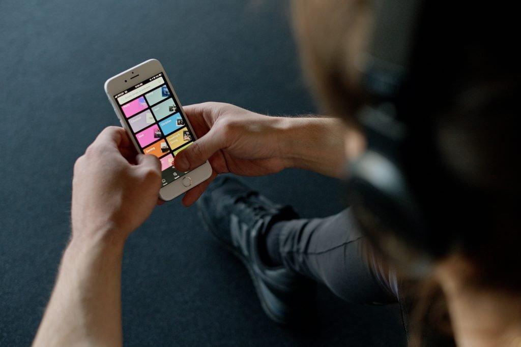 Spotify interface