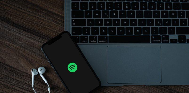 Schermata logo Spotify mobile